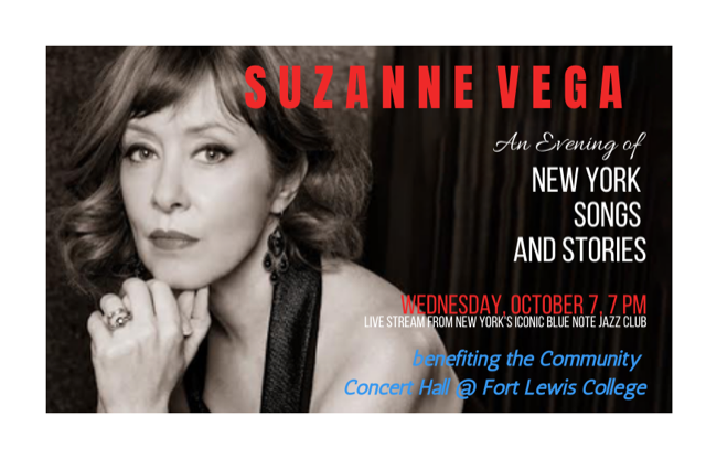Suzanne Vega - An evening of New York songs and stories live stream