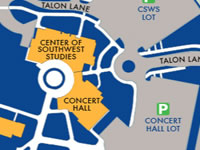 Where to park at the Community Concert Hall, Fort Lewis College